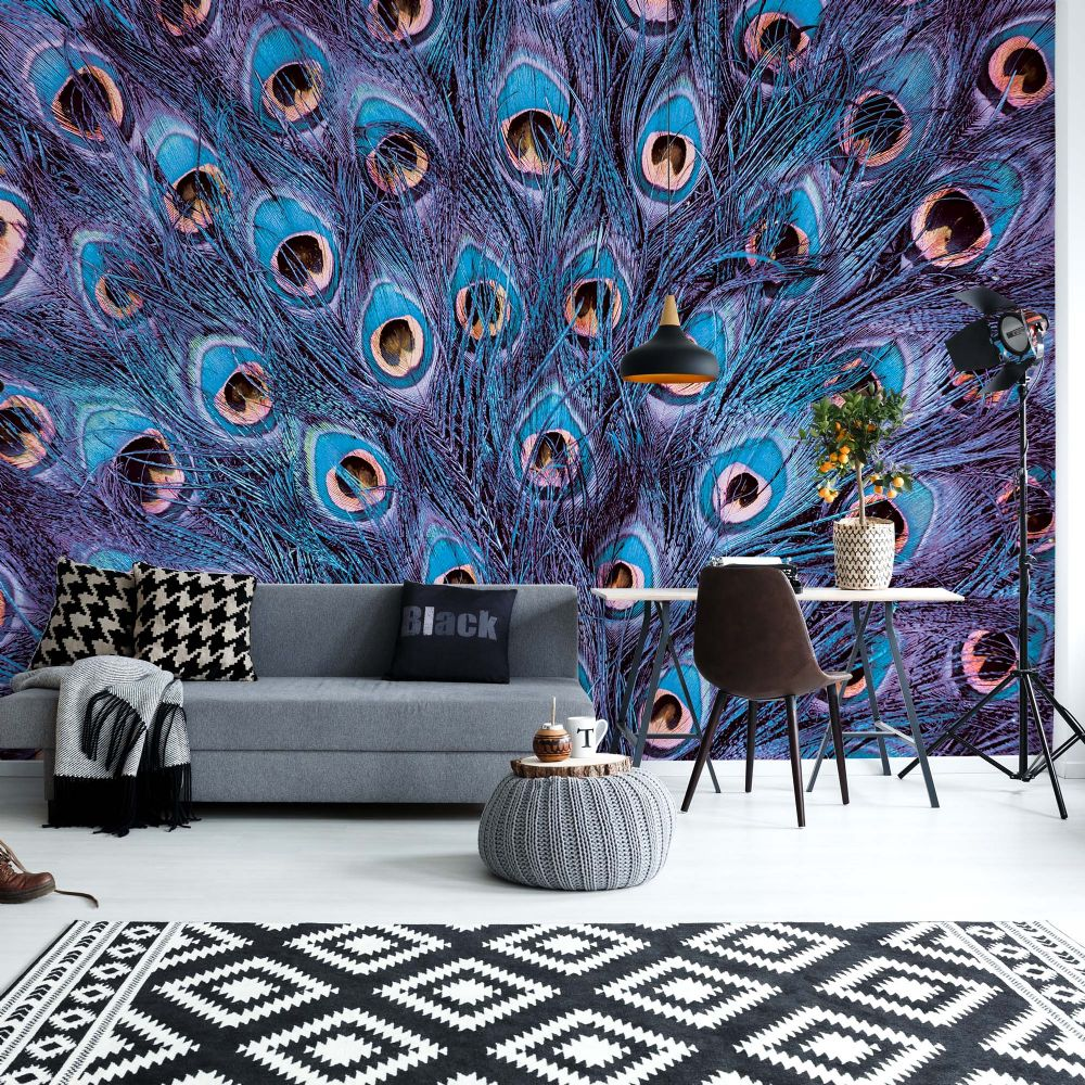 Wall Mural Photo Wallpapers Peacock